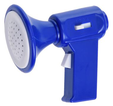 Free and Easy megafoon 7 cm blauw