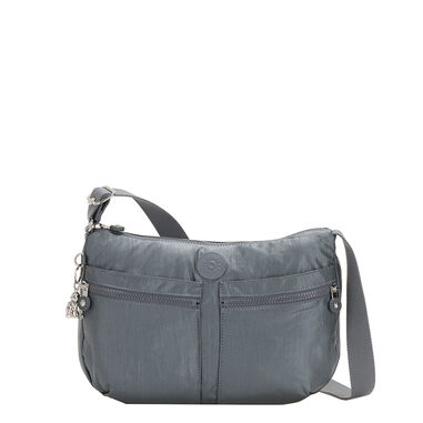 Kipling Izellah BP Medium Schoudertas steel grey metal