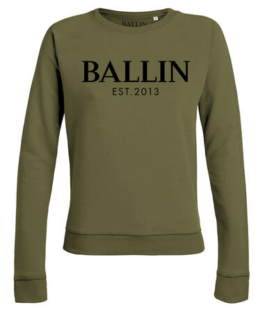 Ballin Est. 2013 - Dames Sweaters Basic Lady Sweat Groen