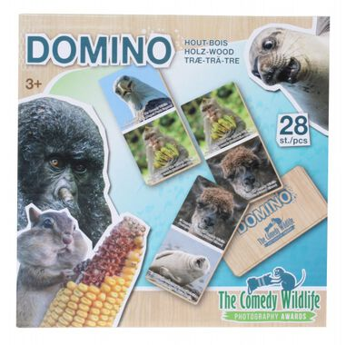 The Comedy Wildlife houten domino dieren 28-delig