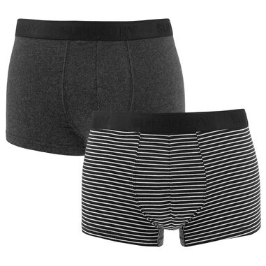 Superdry - trunks 2-pack streep & zwart - M