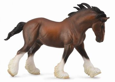 Collecta paarden: Clydesdale hengst 20 cm bruin