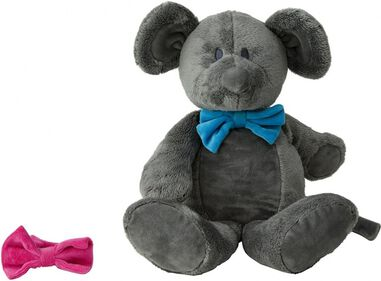 Pericles knuffel Muis 36 cm donkergrijs