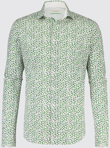 Jackett & Sons Wit klaver print poplin widespread