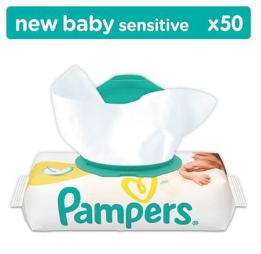 Pampers Billendoekjes - New Baby Sensitive Navulpak 50 Stuks