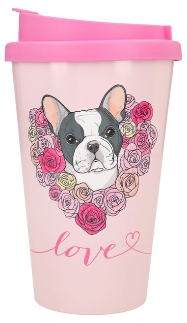 Depesche Drinkbeker To-Go Love with French Bulldog