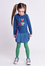 Oilily Heliot sweater 53 solid indigo with i love wifi