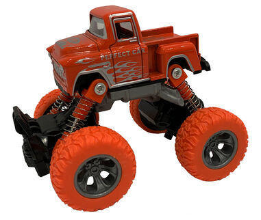 Big Wheels World monstertruck jongens 11,5 cm staal oranje