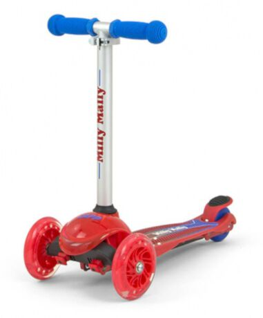 Milly Mally kinderstep Zapp Scooter Junior Rood/Zilver