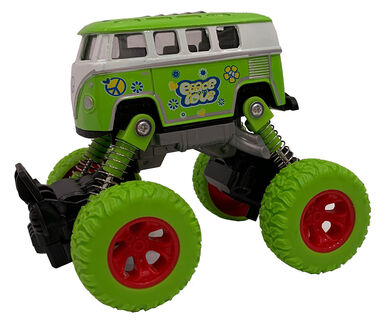 Big Wheels World monstertruck pull-back 11,5 cm staal groen