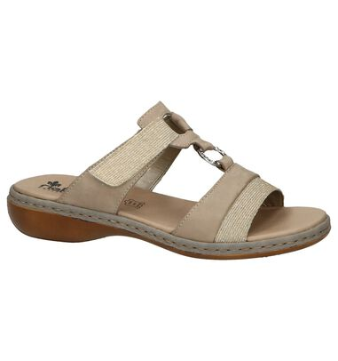 Taupe Slippers Rieker