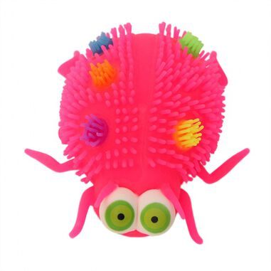Gerardo's Toys fluffy insect 12 cm roze