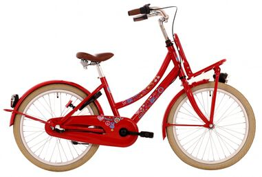 Bike Fun Love & Peace 26 Inch Meisjes 3V Terugtraprem Rood