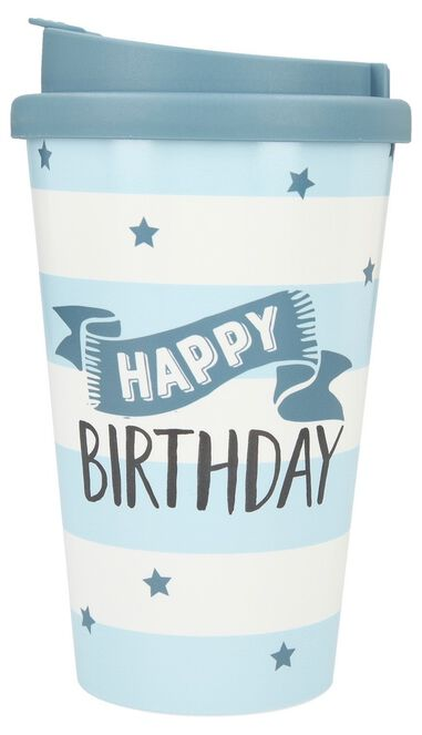 Depesche Drinkbeker To-Go Happy Birthday Stars