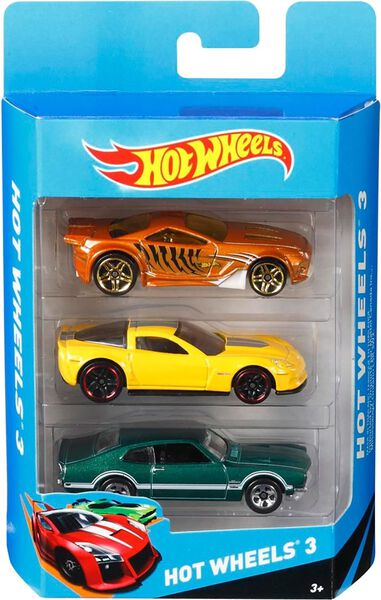 Hot Wheels cadeauset met 3 auto's assorti
