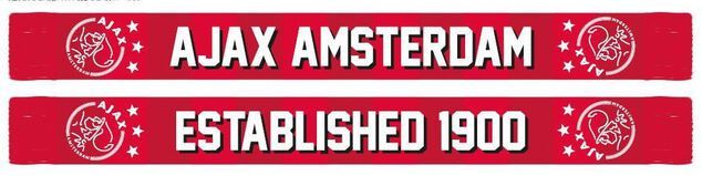 Sjaal ajax rood geblokt established 1900