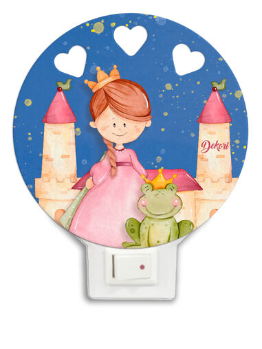 Dekori nachtlamp prinses led junior 12 x 4 cm hout