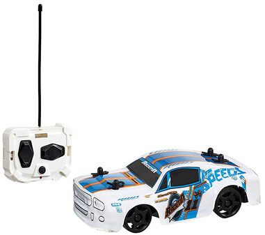 Race-Tin RC auto Mustang 15 cm 1:32 wit/blauw