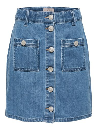 Only Denim rok knoop