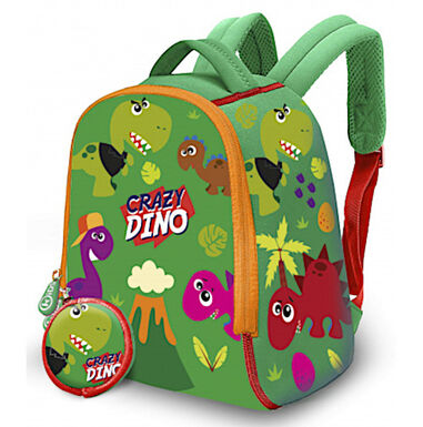 Kids Licensing kinderrugzak Crazy Dino junior 6 liter neopreen groen