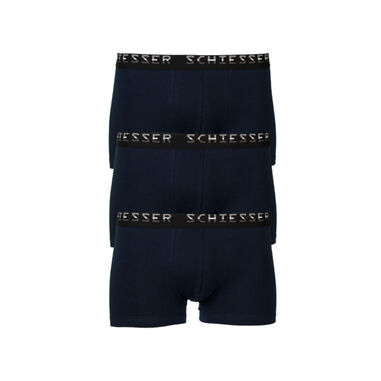 Schiesser 3-Pack Low Rise Boxershorts Blauw