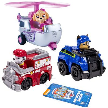 Paw Patrol Rescue Racers 3pack Skye, Marshall & Chase