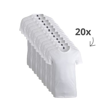 Alan Red 20-pack t-shirts derby ronde hals wit