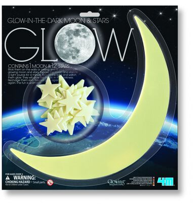 4M Glow in The Dark Pack: Maan en 12 Sterren