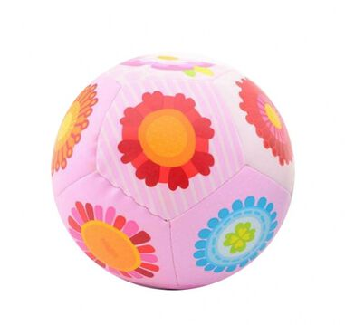 Johntoy softbal Happy World meisjes 14 cm roze