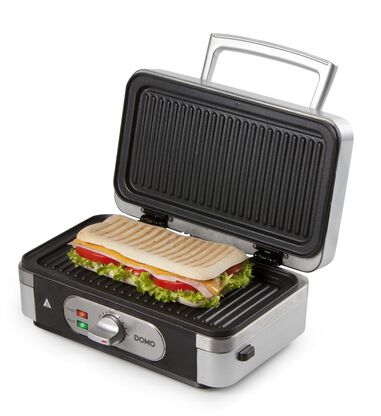 Domo DO9136C - Snackmaker 3-in-1 - Tosti/Croque - Grill/Panini - Wafel - Zilver