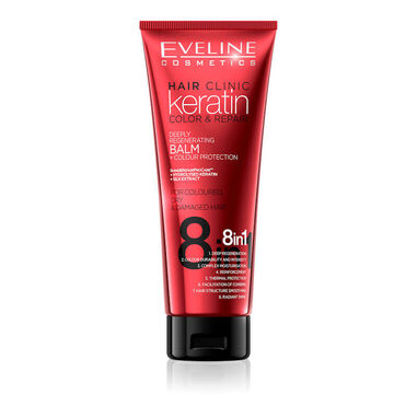 Eveline Cosmetics Keratin Color & Repair Balm Colour Protection 8in1 - 250ml.