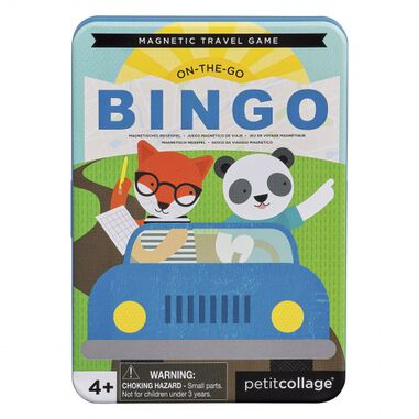 Petit Collage reisspel On-the-Go Bingo Magnetic Travel Game