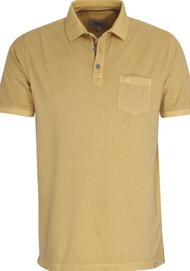 Camel Active Heren poloshirt pique borstzak regular fit geel