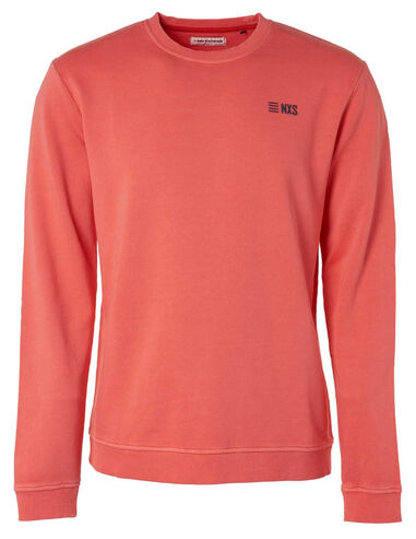 No Excess 95100110 173 peach crew neck sweater