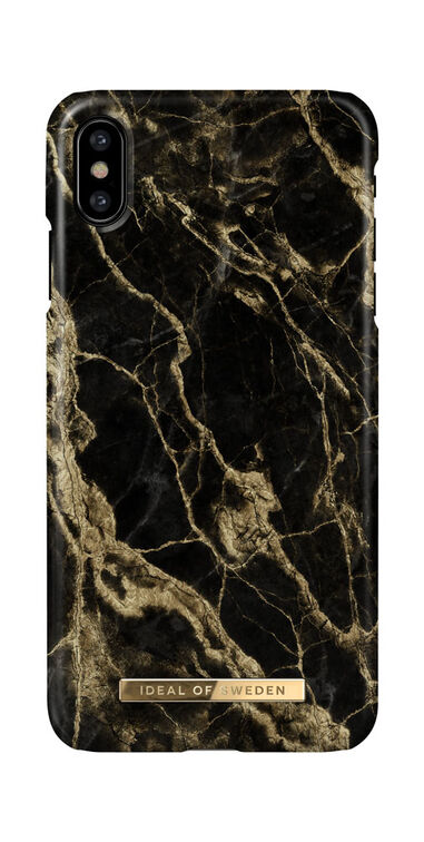 iDeal of Sweden iPhone X / XS Fashion Hoesje - Golden Smoke Marble
