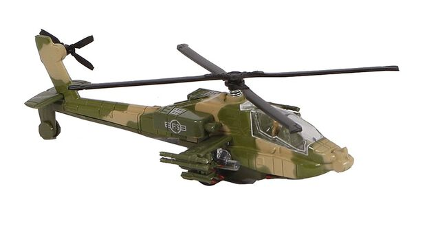 Mission Control militaire helikopter diecast pull-back 1:88 groen
