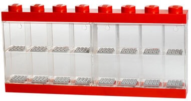 Opbergbox Lego: minifigs rood 16-delig