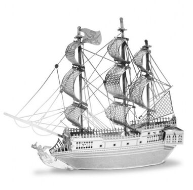 Metal Earth piratenschip- the black pearl 3D modelbouwset