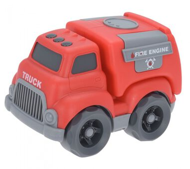 Free and Easy brandweerauto overdreven proporties 15 cm rood
