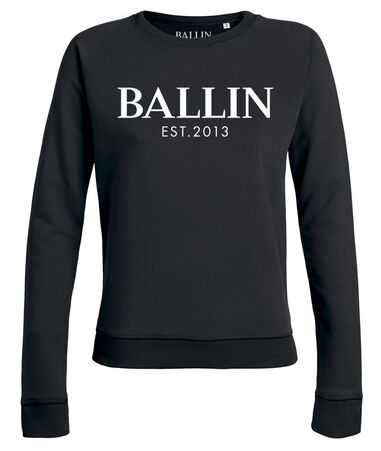 Ballin Est. 2013 - Dames Sweaters Basic Lady Sweat Zwart