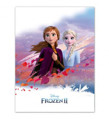 Disney Frozen II fleece-deken 100 x 140 cm wit/paars