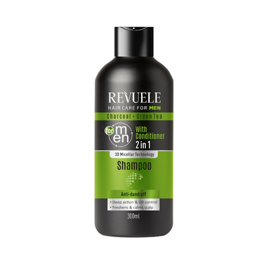 Revuele Charcoal & Green Tea 2in1 Shampoo with Conditioner For Men 300ml.