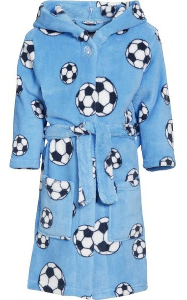 Playshoes badjas Soccer junior fleece blauw