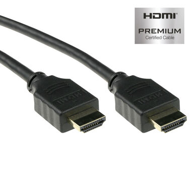 ACT 4K HDMI High Speed Ethernet Premium Certified Kabel - HDMI-A Male/HDMI-A Male