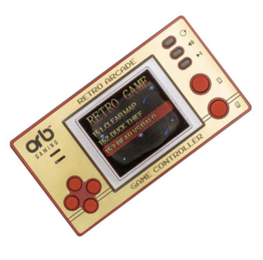 ORB spelcompuer Retro Pocket junior 9 cm goud/rood