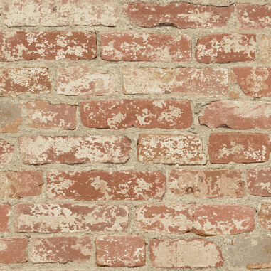 Wandsticker RoomMates Peel & Stick Decor Stuccoed Red Brick