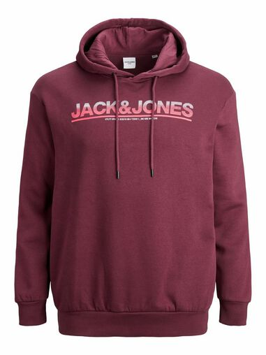 Jack & Jones Plus-size hoodie Loopback