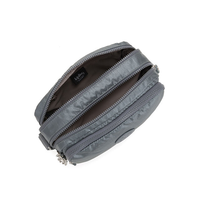 Kipling Silen BP Schoudertas S steel grey metal