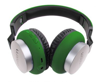 koptelefoon on ear wireless Bluetooth groen