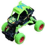 Big Wheels World crossauto jongens 11,5 cm staal groen
